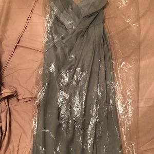 Vera Wang White Collection Sage Bridesmaids dress